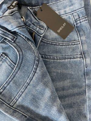 Sheilay Jeans bootcut bleu