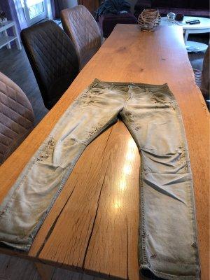 Mac Boyfriend jeans khaki-donkergrijs