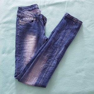 Blue Rags Jeans skinny bleu acier