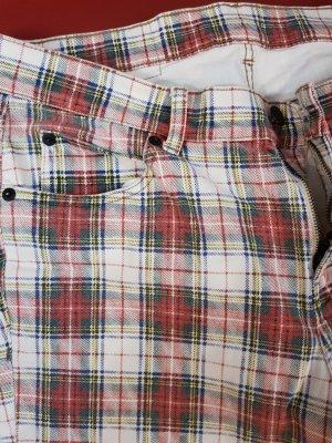 Cheap Monday Jeansy rurki biały-czerwony
