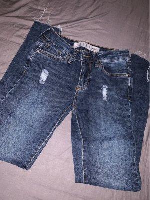 pantalón de cintura baja azul oscuro-azul aciano