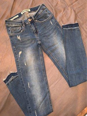 Tally Weijl pantalón de cintura baja azul aciano