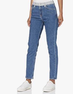 Tommy Hilfiger Stretch jeans staalblauw Katoen