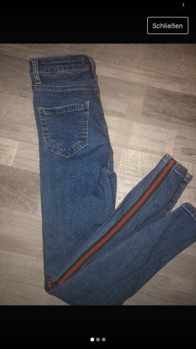 Jeansy biodrówki niebieski