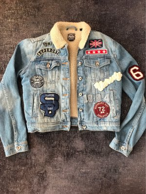 Jeans Fell Jacke Superdry Patches