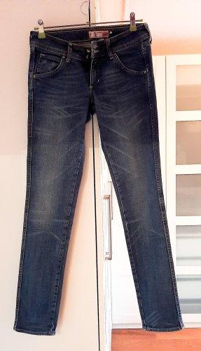 H&M Jeans a sigaretta azzurro-blu acciaio Cotone