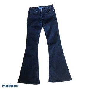 Mavi Jeans Co. Jeansowe spodnie dzwony ciemnoniebieski