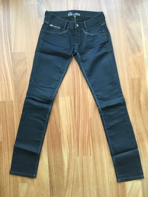 Freeman t. porter Low Rise Jeans dark blue cotton