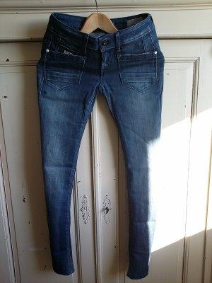 G-Star Raw Jeansy z prostymi nogawkami niebieski Bawełna
