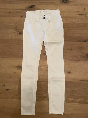 Gang Jeans vita bassa bianco