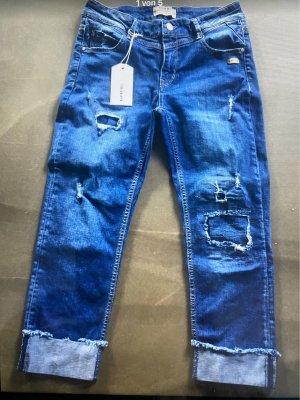 Gang Jeansy typu boyfriend stalowy niebieski
