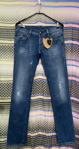Hollywood Trading Company Jeansy o kroju boot cut ciemnoniebieski Bawełna