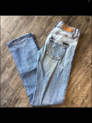 Only Jeans carotte bleu azur-bleu clair