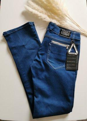 Stretch broek blauw
