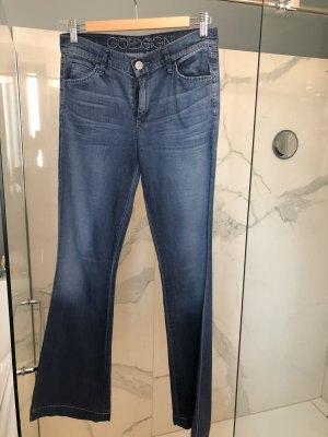 Goldsign Jeans flare bleu acier