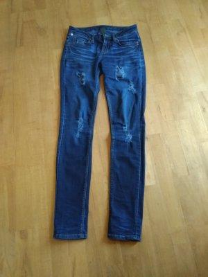 One green elephant Jeans elasticizzati blu