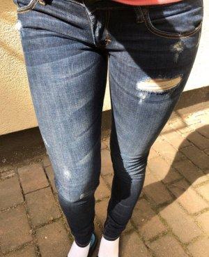 Abercrombie & Fitch Vaquero hipster azul-azul oscuro