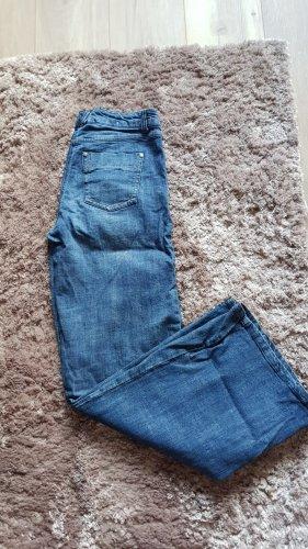 Gina Benotti Jeansowe spodnie dzwony niebieski