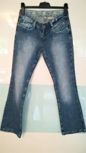 Takko Jeans a gamba dritta azzurro Cotone