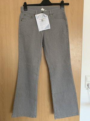 Jeansowe spodnie dzwony szary