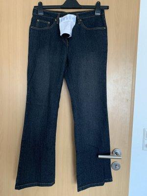 Jeansowe spodnie dzwony ciemnoniebieski
