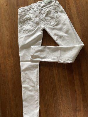 Please Jeans a sigaretta bianco