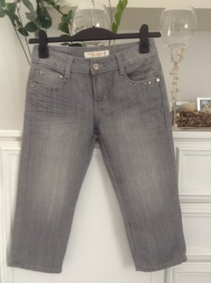 Jeans / grau / 7/8 / Gr. 27 (36)