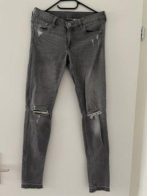 Jeans   Grau   Low Waist   Größe 28/32   H&M