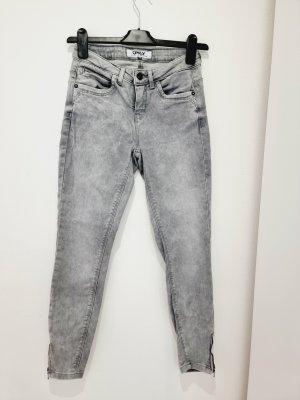 Jeans | grau | Reißverschluss | 25/30