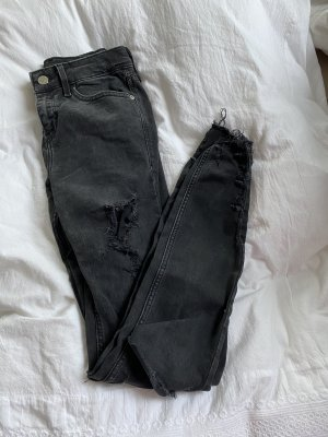 Jeans grau schwarz