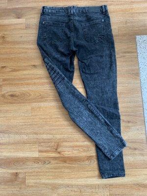 Jeans grau/schwarz