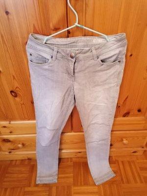 Jeans, grau, skinny, 38