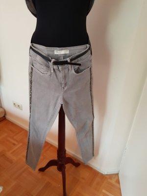 Zara Jeans stretch gris clair
