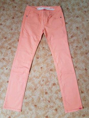edc Jeansy z prostymi nogawkami pomarańczowy-brzoskwiniowy