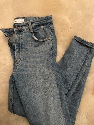 Zara High Waist Jeans azure
