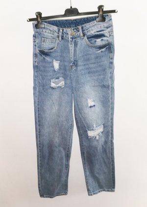 SheIn Boyfriend Jeans multicolored
