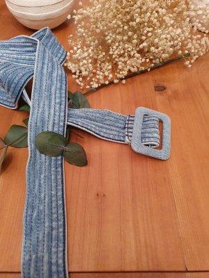 Fabric Belt light blue