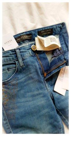 Guess Jeansy o obcisłym kroju niebieski