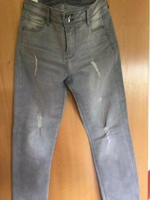 Guido Maria Kretschmer Stretch Jeans silver-colored cotton