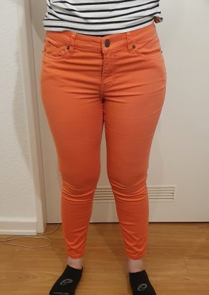 H&M L.O.G.G. 7/8 Length Jeans salmon cotton