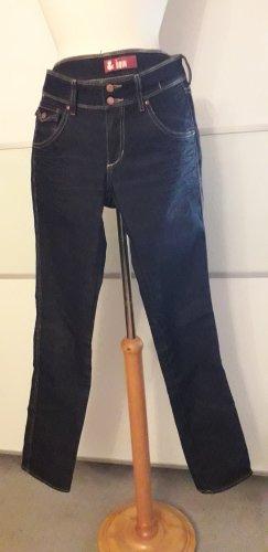 H&M Jeansy z prostymi nogawkami ciemnoniebieski