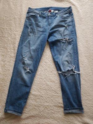 Jeans H&M Divided Größe 36 Boyfriend Used Look