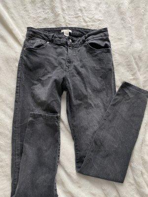 H&M Pantalon cigarette gris anthracite