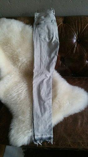 Jeans H&M Skinny Regular Waist 25 XS 34 Eisblau-grau-weiß