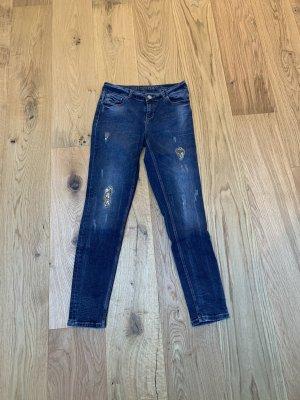 Jeans Hallhuber 36 Pailetten blau