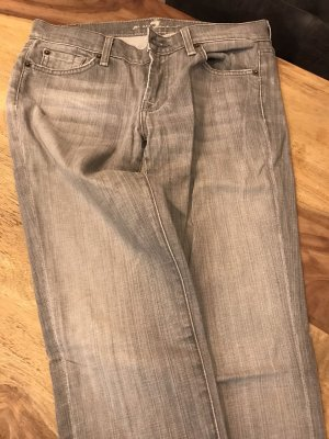 7 For All Mankind Pantalon cinq poches gris clair
