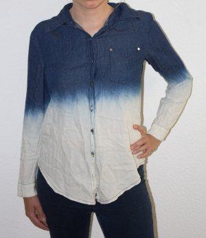 Camicia denim bianco-blu