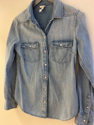 H&M Denim Shirt slate-gray