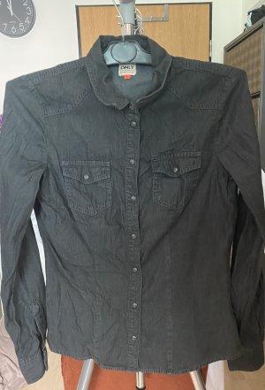 Only Jeansowa koszula antracyt