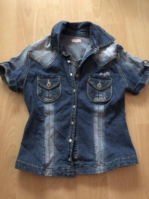 Early 20 Camicia denim blu acciaio-blu fiordaliso